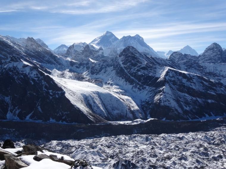 Vue sur l'Everest Gokyo Ri