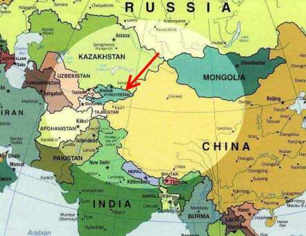 carte kirghizstan