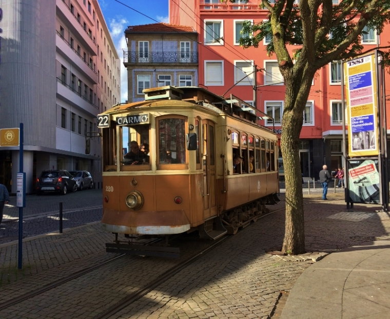 Porto Portugal Vieux tramway
