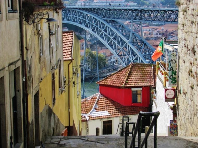 Porto Portugal Vue sur pont Dom Luis
