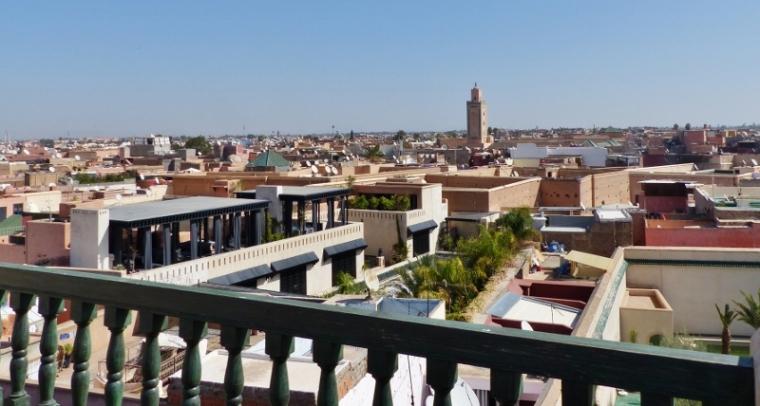 Marrakech le Jardin Secret sur le toit de la tour