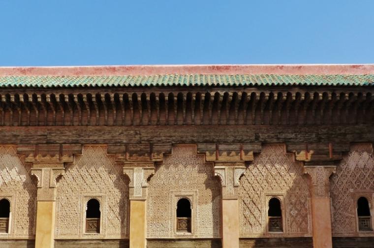 MarrakechMédersa Ali Ben Youssef vue sur le toit