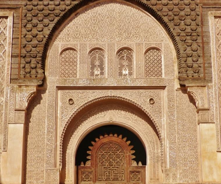 Marrakech Médersa Ali Ben Youssef porte