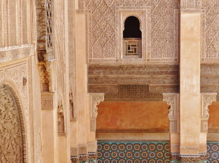 Marrakech Médersa Ali Ben Youssef mosaïque