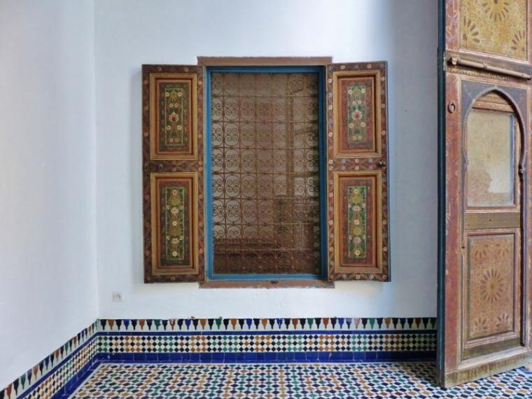 Marrakech Palais de la Bahai fenêtre
