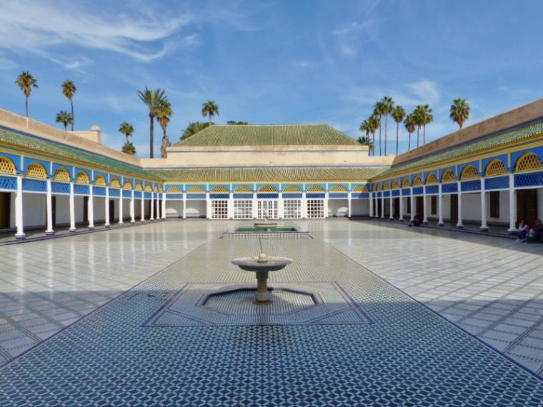 Marrakech Médersa Palais de la Bahia cour