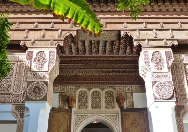 Marrakech Palais de la Bahia porte
