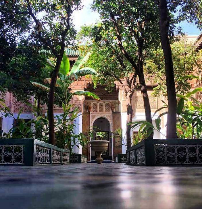 MarrakechPalais de la Bahia cour intérieure