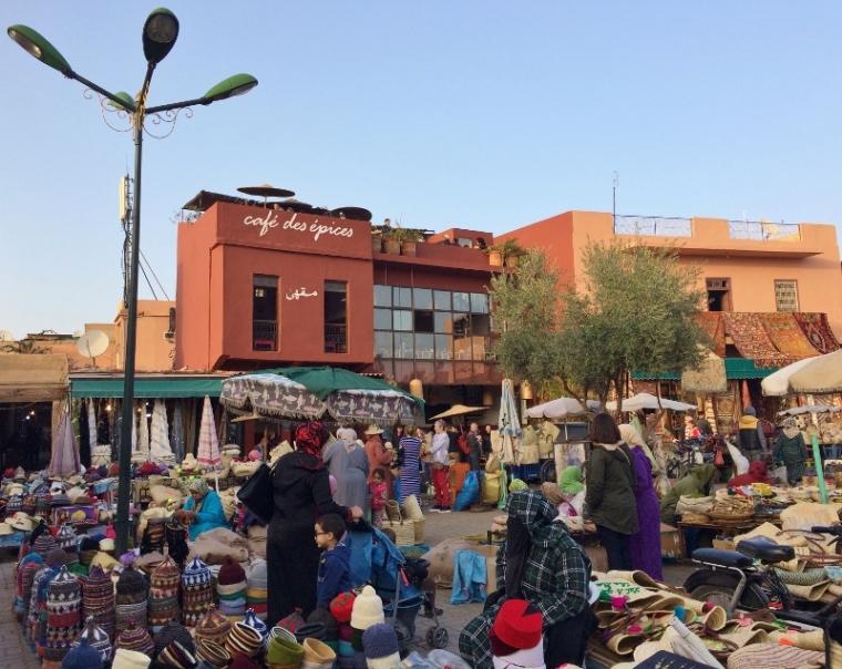 Marrakech place des épices Jemma El Fna
