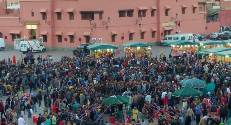 Marrakech place Jemma El Fna de nuit