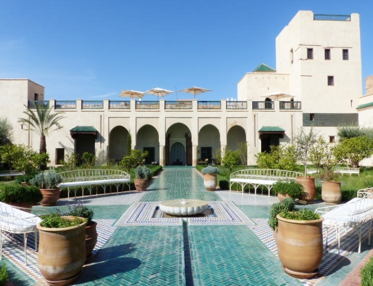 Marrakech Ryad le Jardin Secret vue de la cour