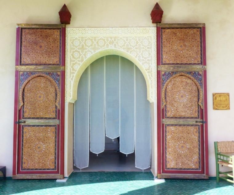 Marrakech Ryad le Jardin Secret porte d'une entrée