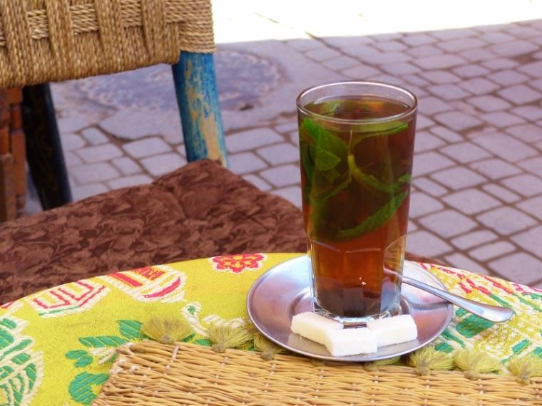 Marrakech thé à la menthe coloré