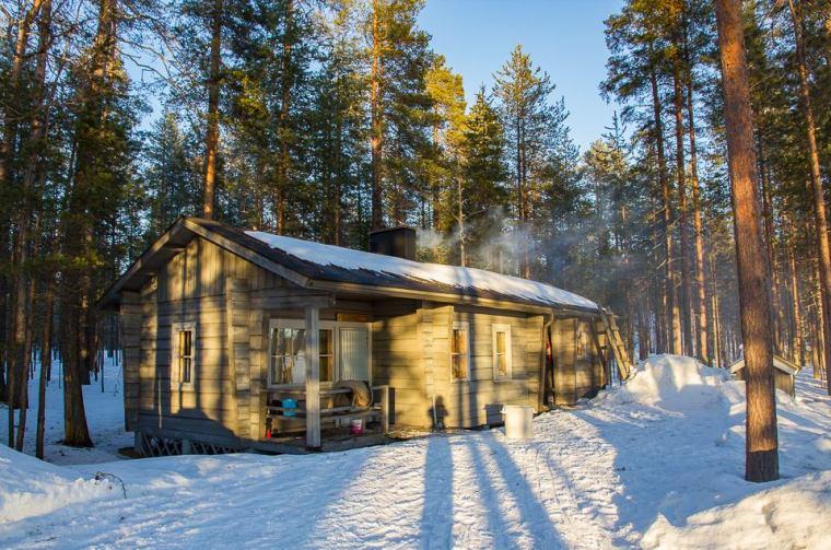 cabane trappeur finlande