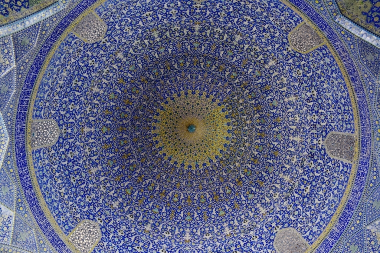 fresque mosquée ispahan