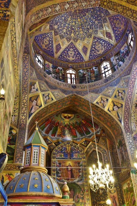 Intérieur catthédrale Vank Iran Ispahan