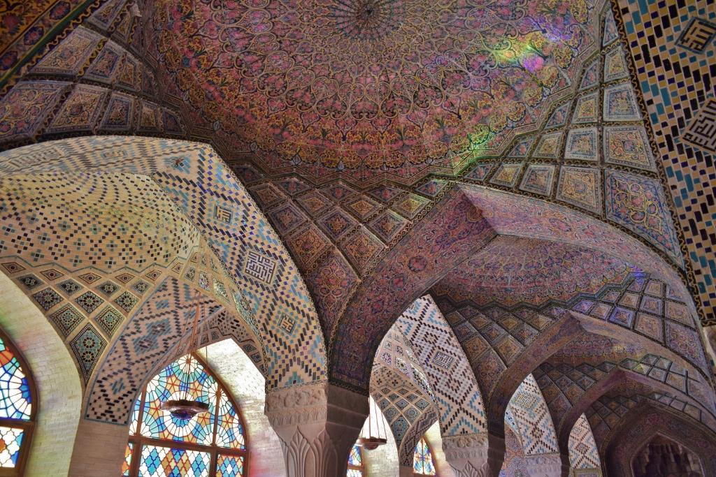 Iran Shiraz Mosquée rose