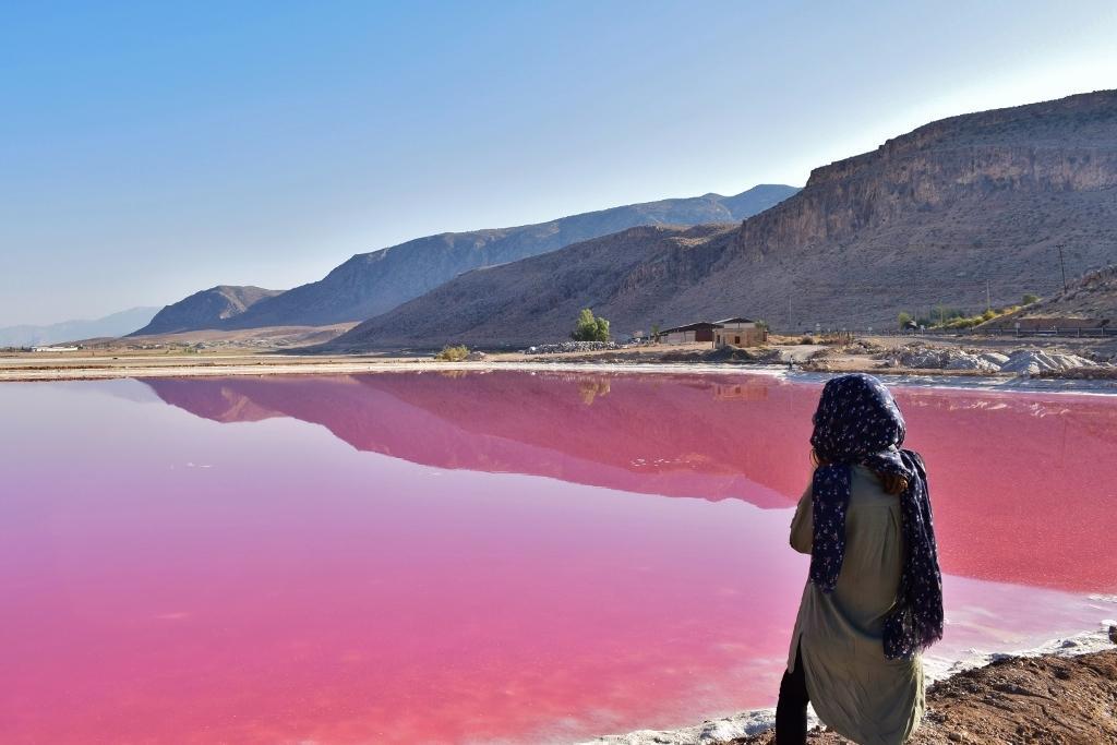 Lac rose Maharloo Iran