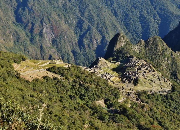 Vue sur le Machu Picchu au Pérou