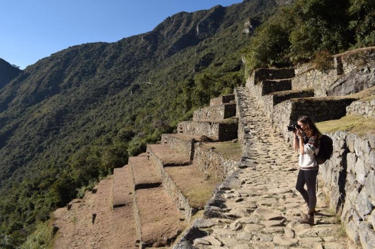 Depuis les terrasses du Machu Picchu au Pérou