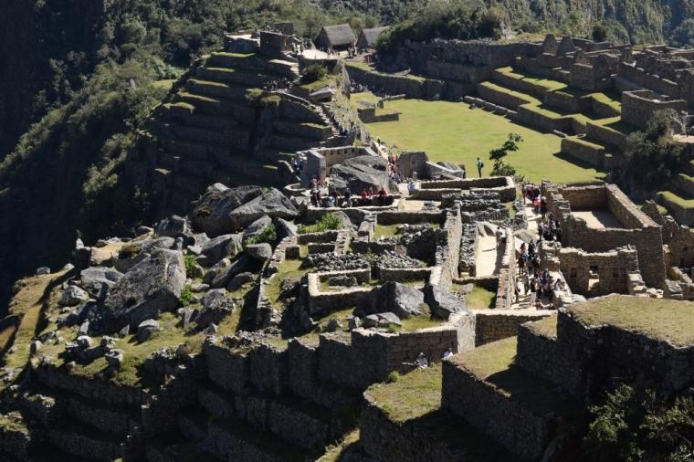 Vue sur les ruines du Machu Picchu au Pérou