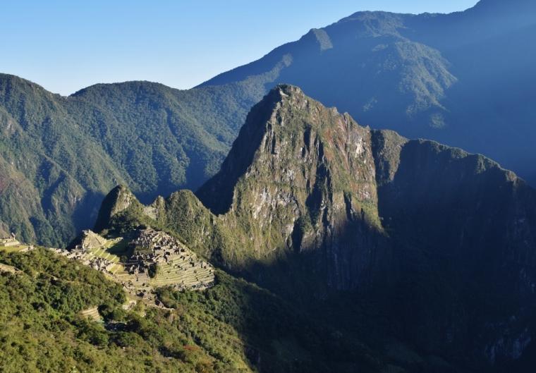 Point de vue sur le Machu Picchu depuis la Porte du Soleil