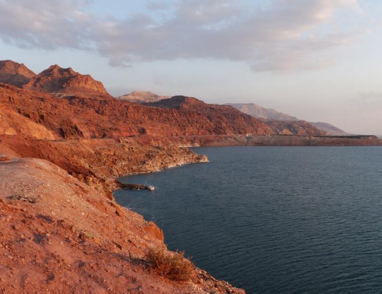 Vue sur la Mer Morte en Jordanie