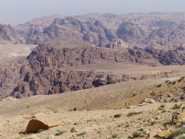 Paysage aride en Jordanie