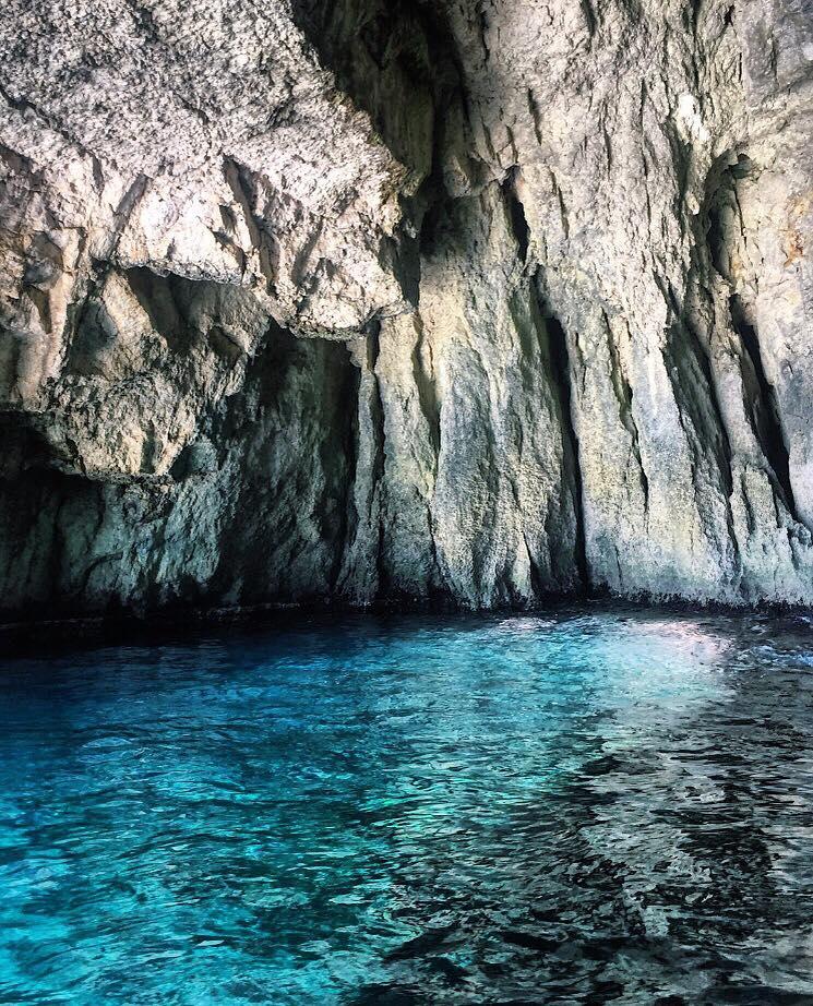 grotte bleue malte