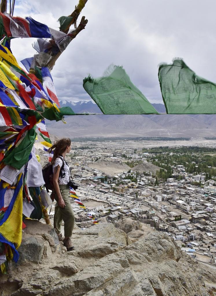 vue sur la ville de leh ladakh