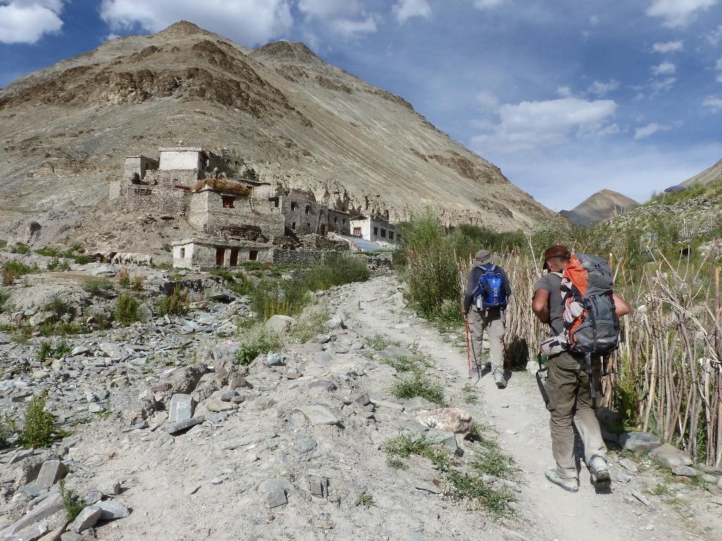arrivée village shingo ladakh