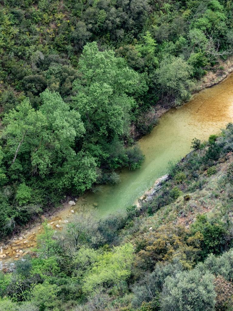 Vue sur le rio vero à alquezar