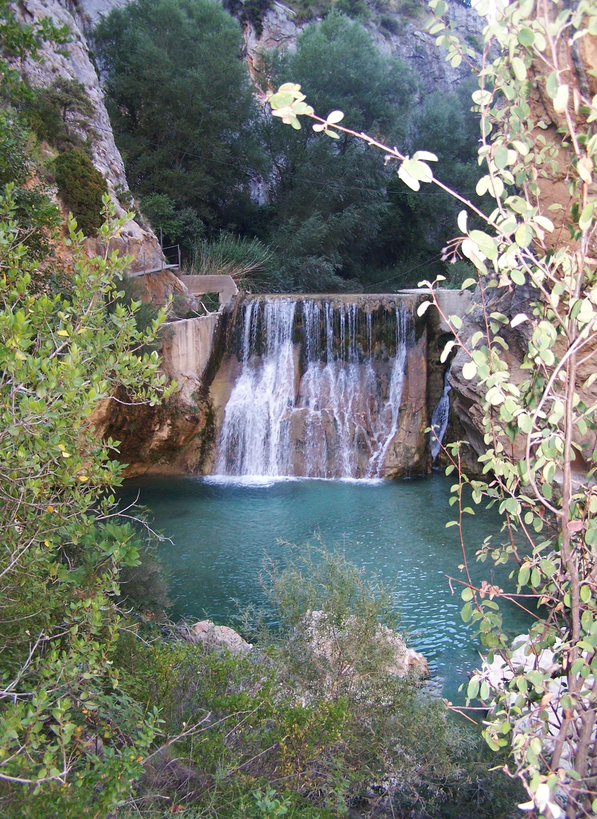 Vue sur la cascade d'Alquzar