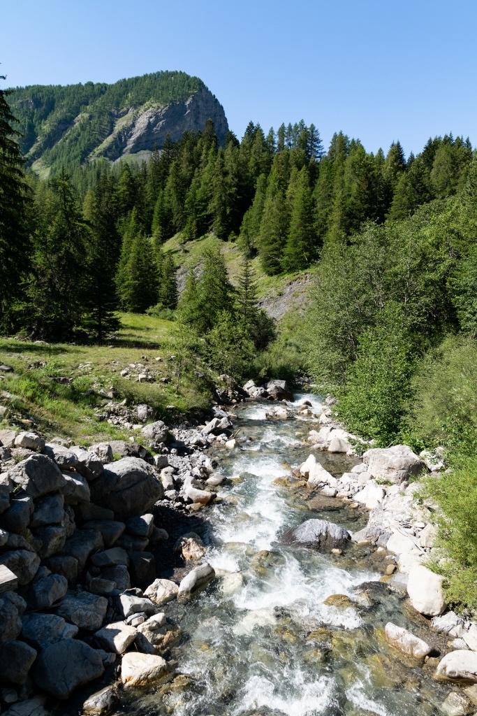 Paysage lors de la randonnée jusqu'au lac d'Allos